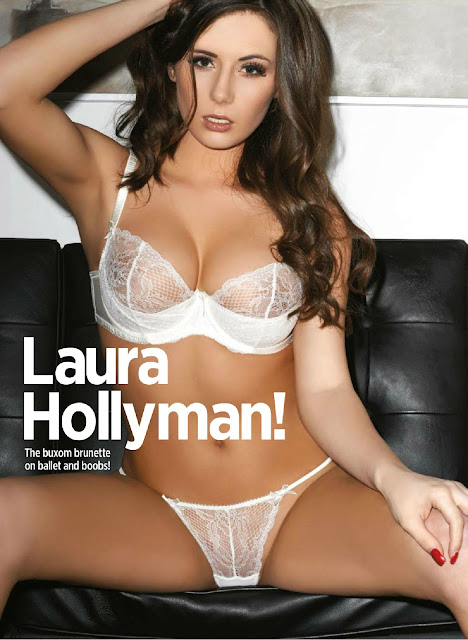Laura Hollyman Topless 32E Boobs And Wearing Sexy Lingerie For Nuts