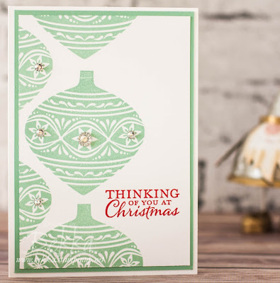 Fast and Fabulous Embellished Ornaments Christmas Card - Get the details here