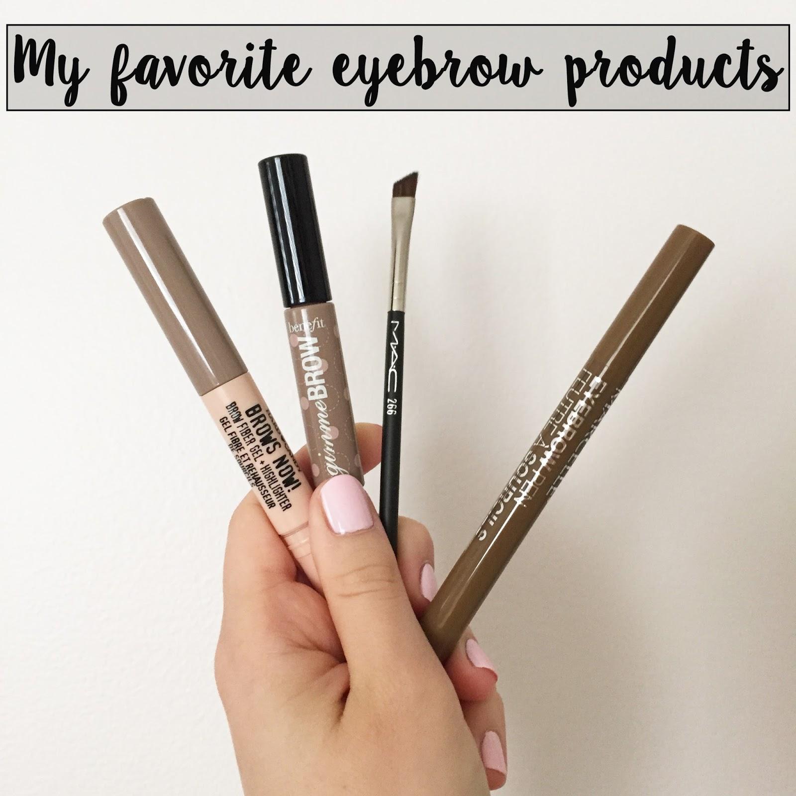 Beauty My Favorite Eyebrow Products Orane Boucher