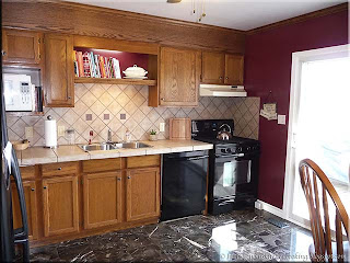 kitchen bulkhead over sinks and stove