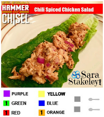 Chili Spiced Chicken Salad, Sara Stakeley, Hammer and Chisel