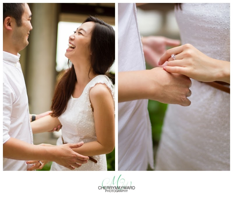 couple newly engaged, engagement photos, cute couple in love, laughing, engagement in thailand, koh samui engagement, engagement ring
