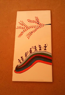 Tile Painting - Warli Art