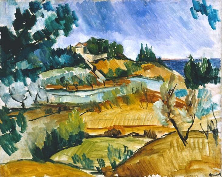 Maurice de Vlaminck - Paysage près de Martigues,1913.