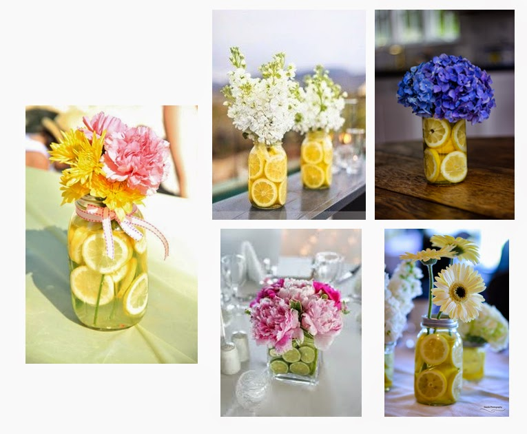 Simple Decorations With Lemons and Flowers