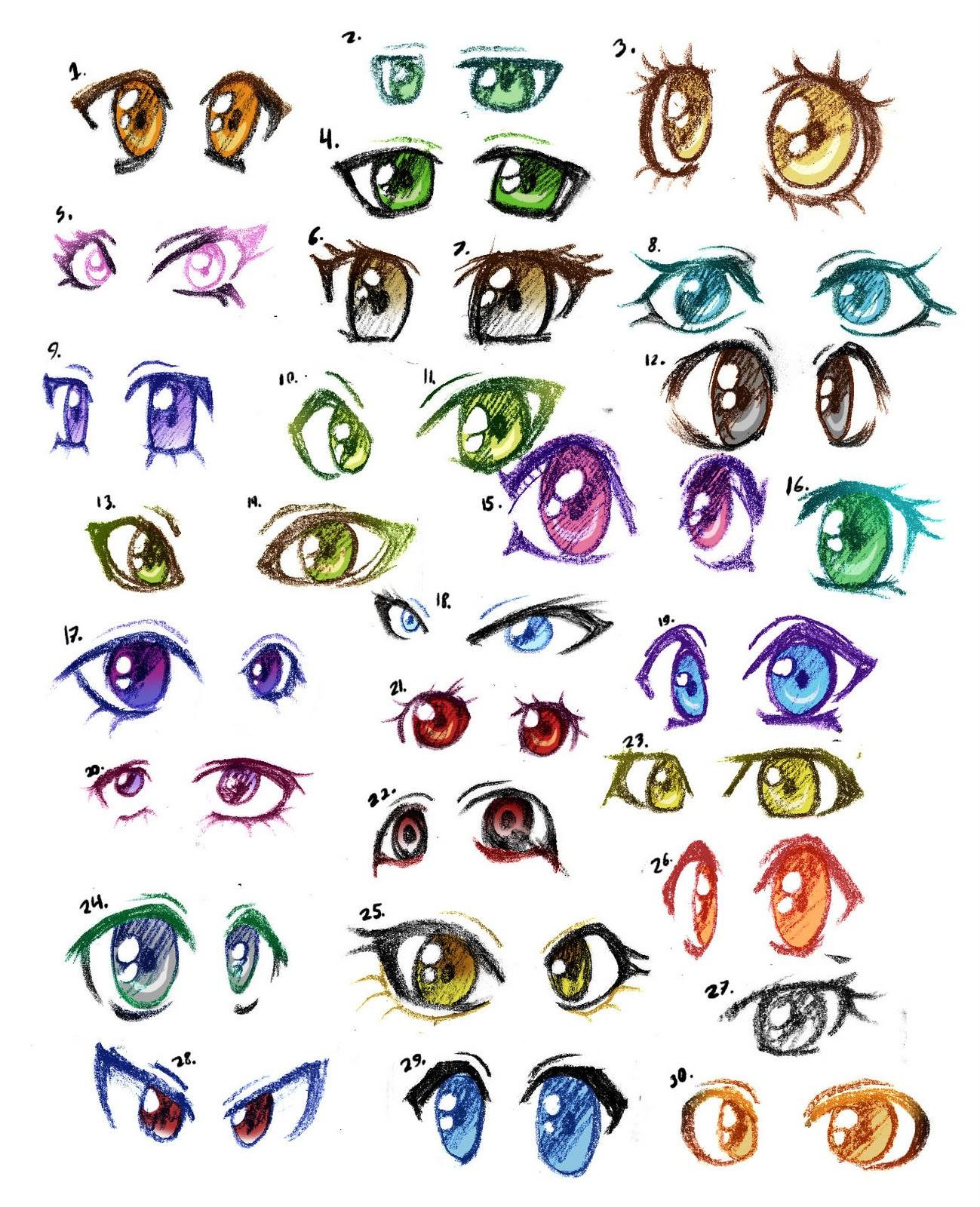 Dibujar Tipos Ojos Anime