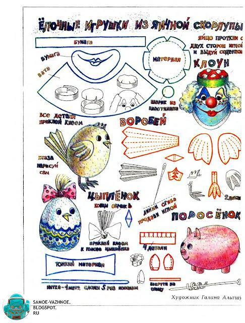 Игрушки-поделки из советского детства СССР список сайт каталог Новый год