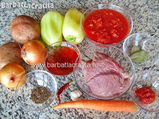Gulas unguresc de vita ingrediente reteta