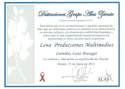 DISTINCION FUNDACION ALAS