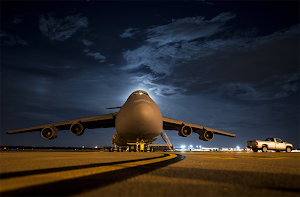 C-5 GALAXY LOADS CARGO AT JOINT BASE CHARLESTON, S.C.