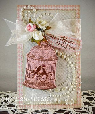 Our Daily Bread Designs: To the Lovebirds, ODBD Custom Bird Cage and Banner Dies