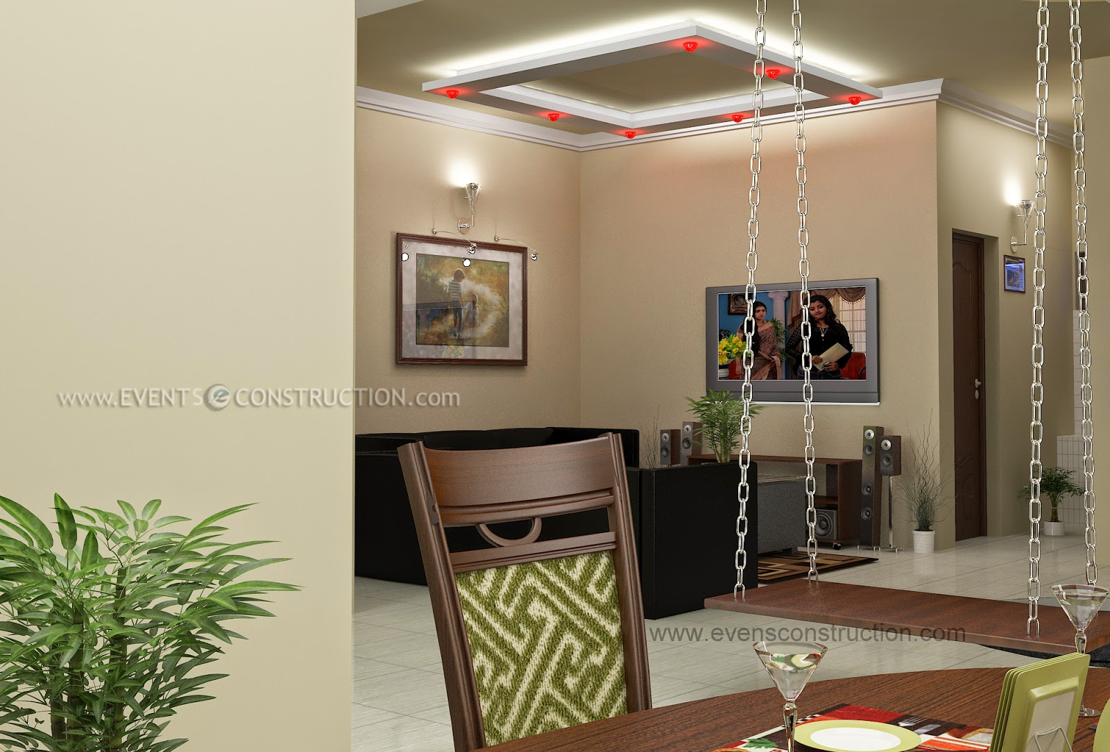 Living Room Designs Kerala Style evens construction pvt ltd: july 2014