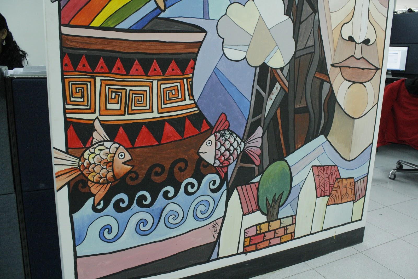 Murales mural en oficina de planificaci n del sector for El periodico mural wikipedia