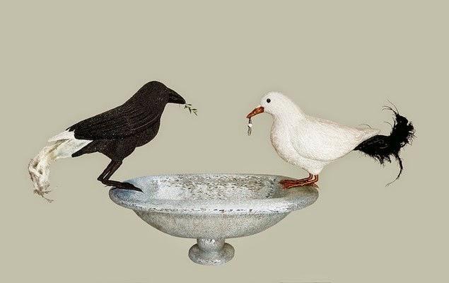 mosaic bird sculptures dusciana bravura-5