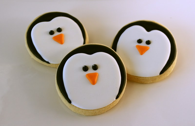 penguin face cookies