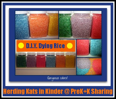 photo of: DIY Rice Dying by Herding Kats in Kindergarten @ PreK+K Sharing