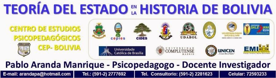 TEORÍA DEL ESTADO EN LA HISTORIA DE BOLIVIA