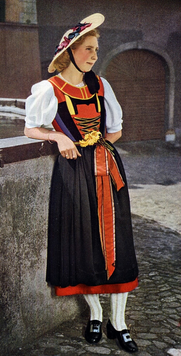 FolkCostume&Embroidery: Overview of Swiss Costume