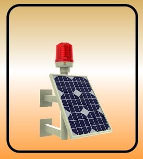 güneş enerjili uçak ikaz lambaları