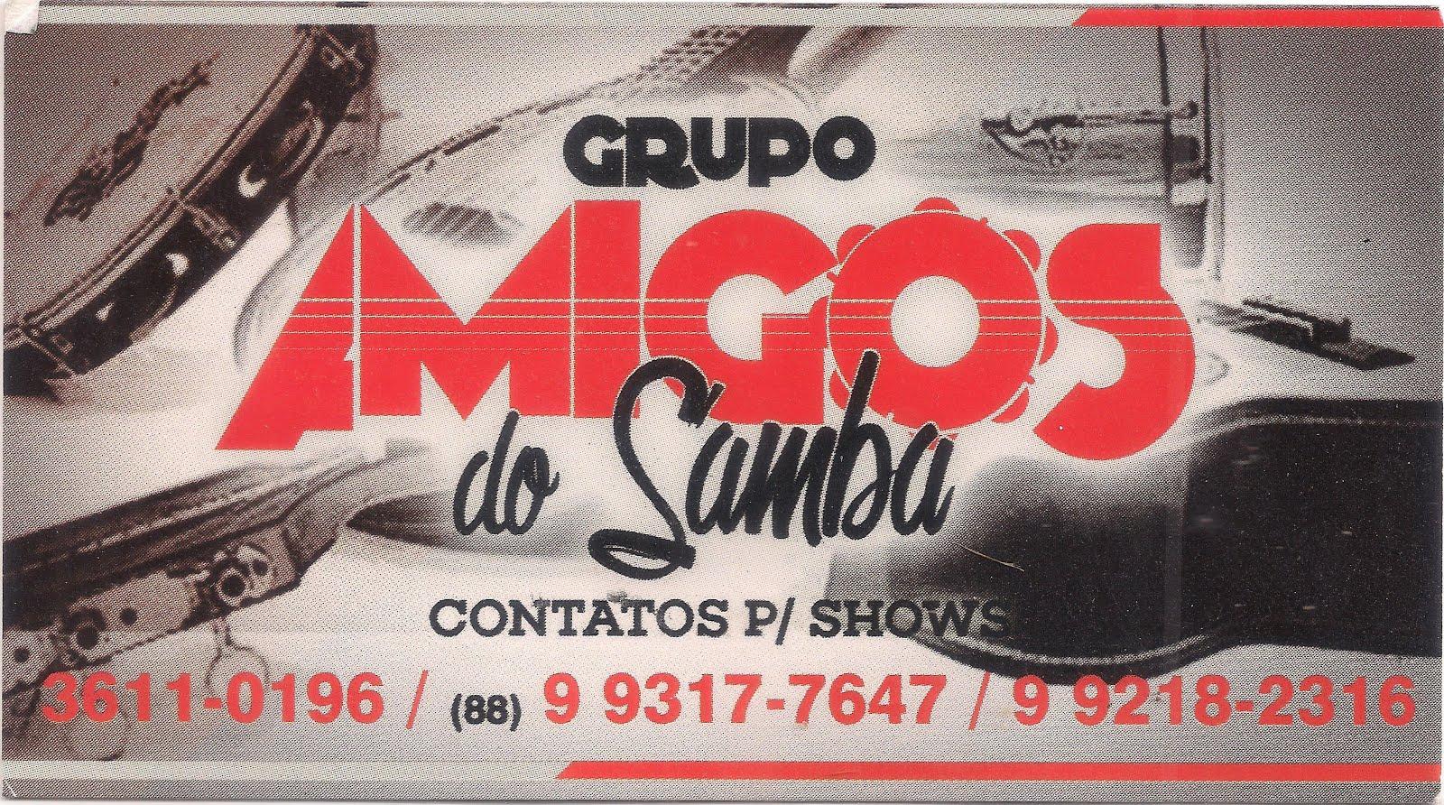 AMIGOS DO SAMBA - MÚSICA E ALEGRIA - CONTATE/CONTRATE