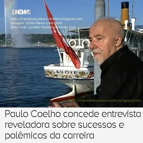 Paulo Coelho em passeio ao Pier da marina, em Genebra, na Suíça, na gravação da entrevista ao programa Globo News Literatura