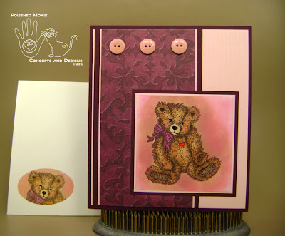 Picture of the card and its coordinating envelope