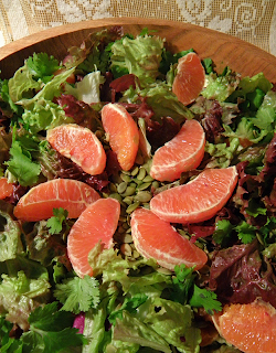 Salad Bowl with Orange Salad