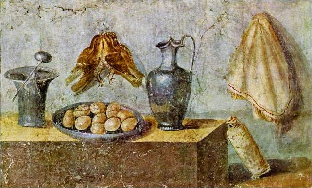 Bodegones de cocina antecedentes del bodeg n roma - Cuadros con peces ...