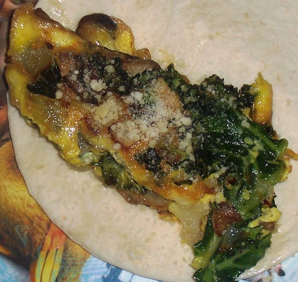 Kale & Mushroom Omelet