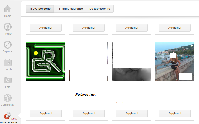 nuove cerchie google plus