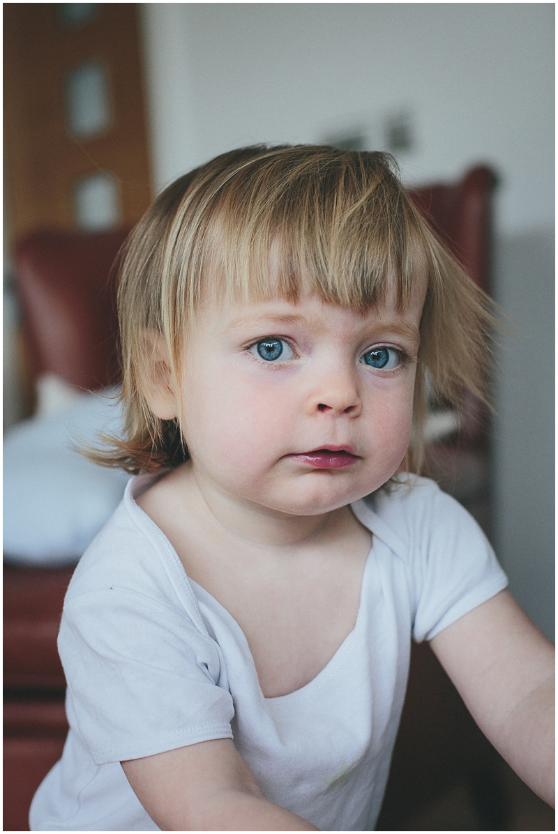 Portrait of a toddler girl playing
