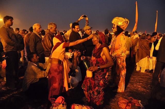 women bathing at night Kumbh mela 2013 ganga allahabad