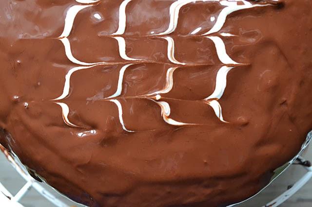 Rehrücken-Torte Schokoglasur