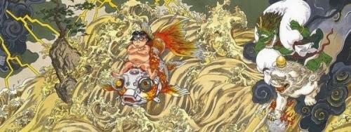 El autor de Akira, Katsuhiro Otomo, realiza un mural representando el Tsunami de 2011