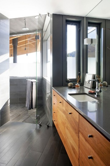 com decor Design Moderno Para Casas na Montanha