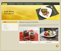 template blogspot cafe