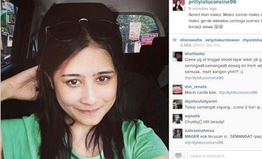 Foto Prilly Latuconsina Selfie di Instagram