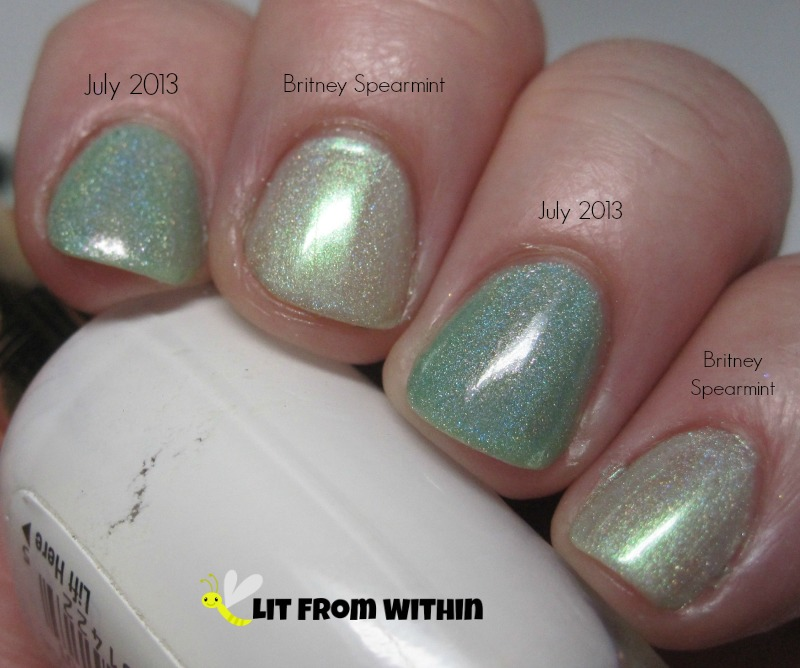 Enchanted Polish Britney Spearmint and July 2013