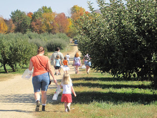 Walking into the orchard