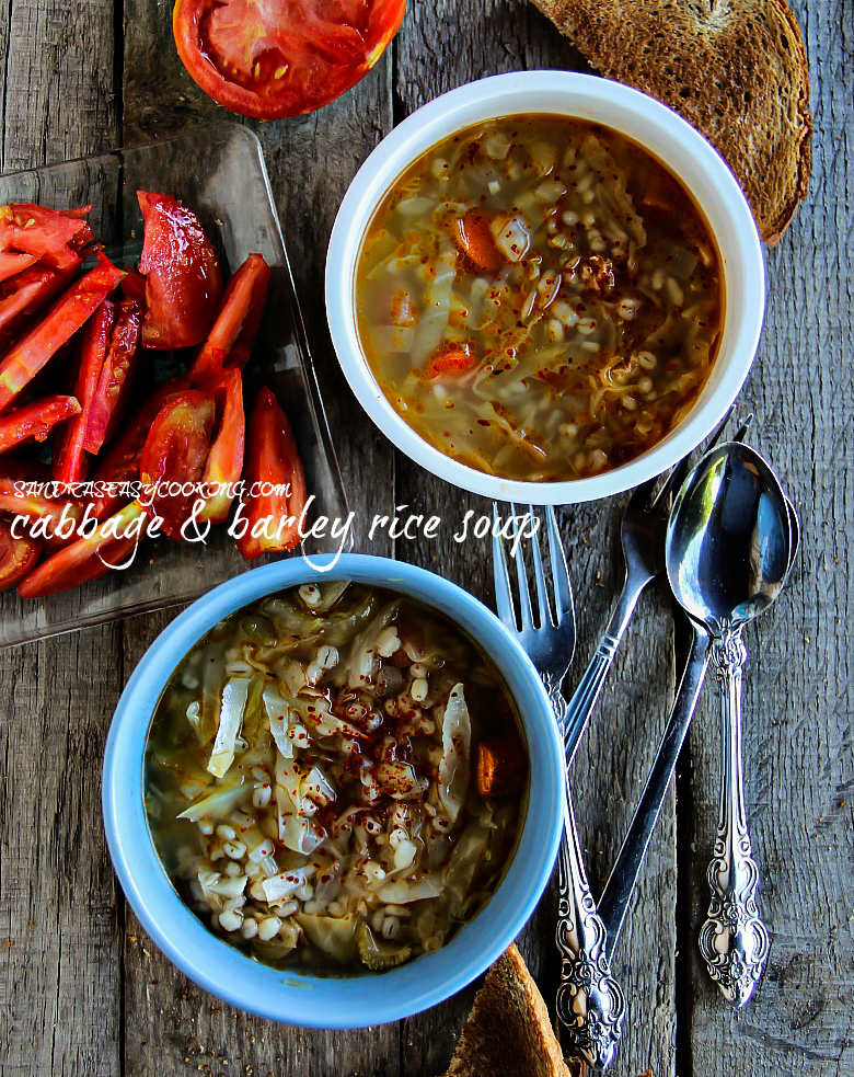 Cabbage & Barley Rice Soup #soup #homemade #healthy #recipe