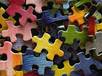 Aprendo a hacer puzzles.