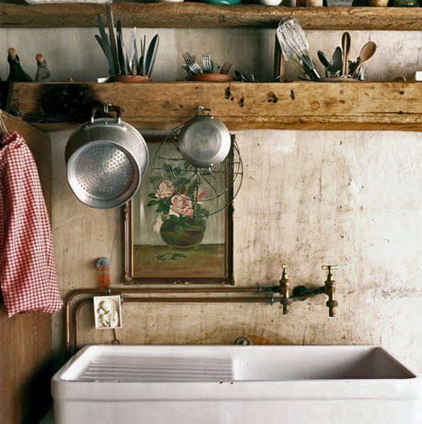 Country Kitchen Taps: Vignette Design: The Scullery Kitchen