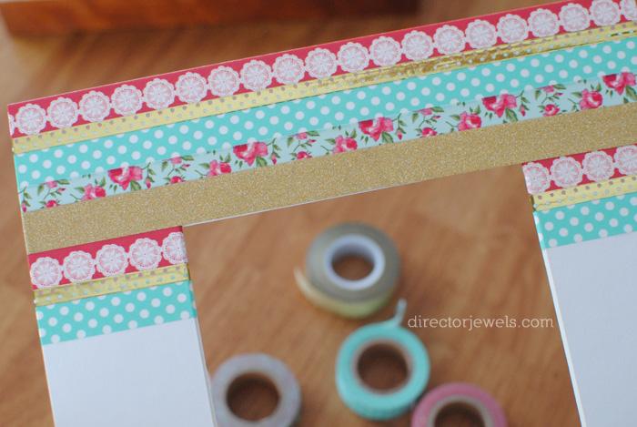 DIY Washi Tape Frame - Easy Photo Gift Idea at directorjewels.com