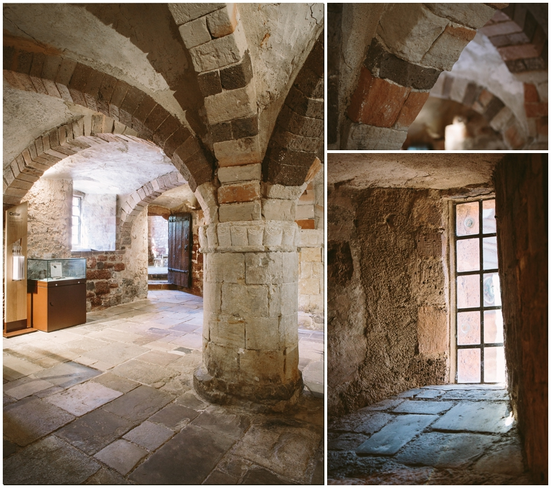 Cellar with stone arches