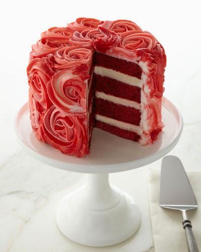 Neiman Marcus Red Velvet Rose Cake,