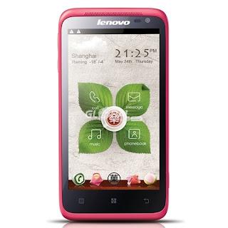 Harga dan Gambar Lenovo S720 Pink - Android Smartphone