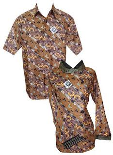 baju batik sarimbit motif batik ceplok teratai (Kode : cbus35m5)