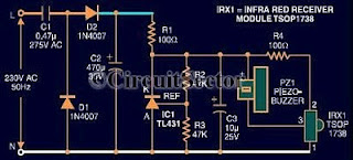 Circuit Diagram of Remote Control Tester