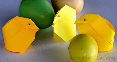 Easter Origami: Chicks