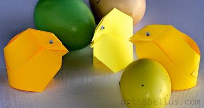 Easter Origami: Chicks